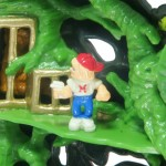 Mighty Max Tangles with the Ape King - Doom Zone Playset Close Up