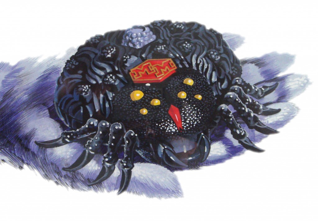 Mighty Max Trapped Arachnoid Spider Art