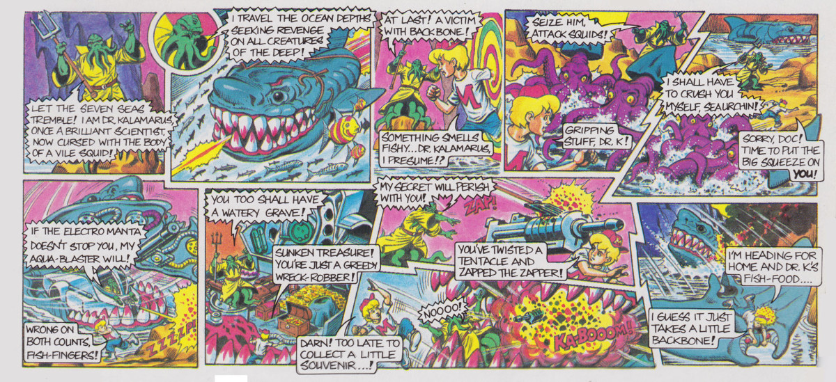 Mighty Max Caught by Man-Eater Comic Card