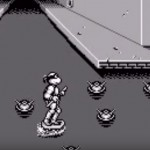 TMNT Back from the Sewers Game Boy sewer surfing