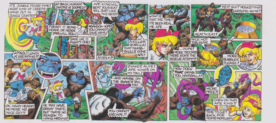 Mighty Max Tangles with the Ape King - Comic Card Back