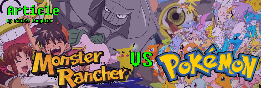 Monster Rancher vs Pokemon Website Slider