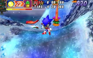 Christmas NiGHTS Sonic into Dreams Saturn