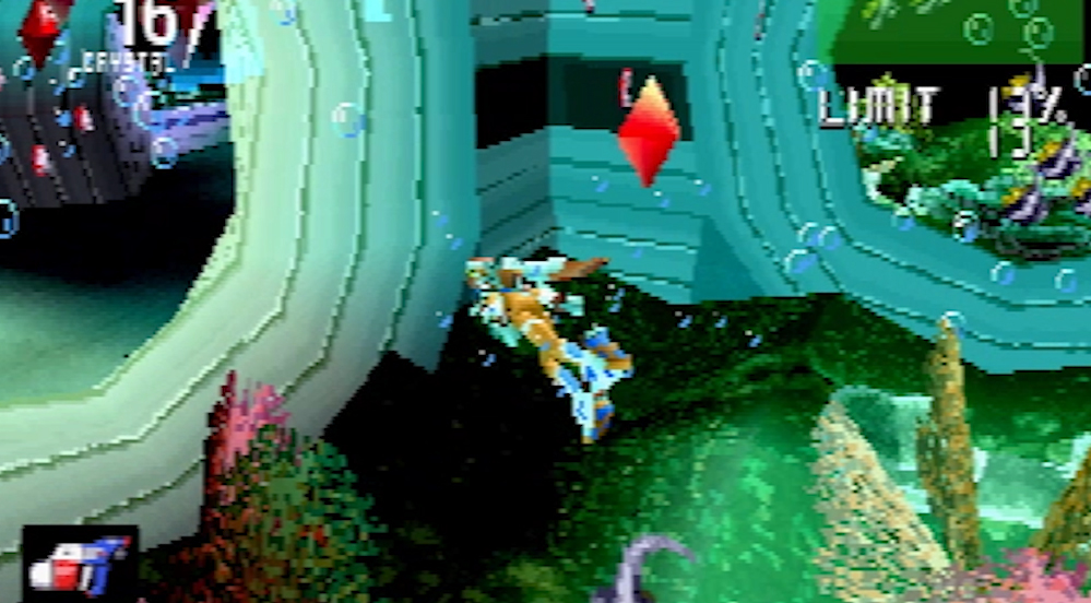 Burning Rangers Sega Saturn Underwater