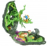 Mighty Max Tangles with the Ape King - Doom Zone Playset Open