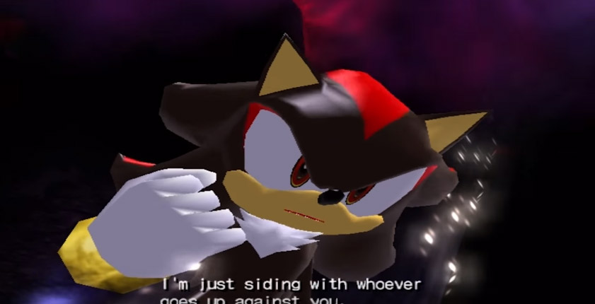 Shadow the Hedgehog Angry