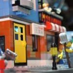 Pizza Shop above TMNT Custom Ninja Turtles Lego Sewer