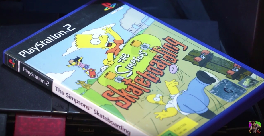 Simpsons Skateboarding PS2 Box Art