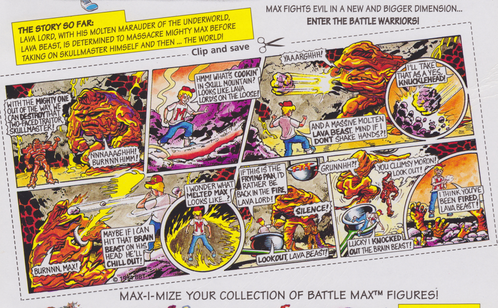 Mighty Max Battle Warrior Playset - Melts Lava Beast Comic Card