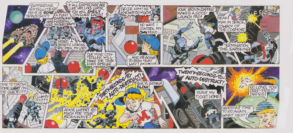 Mighty Max Terminates Wolfship 7 Comic Card Doom Zone